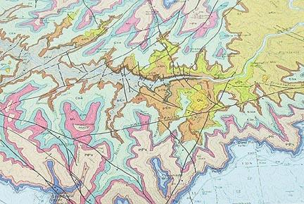 Geologic Map Of Arizona.Introduction To Geological Maps